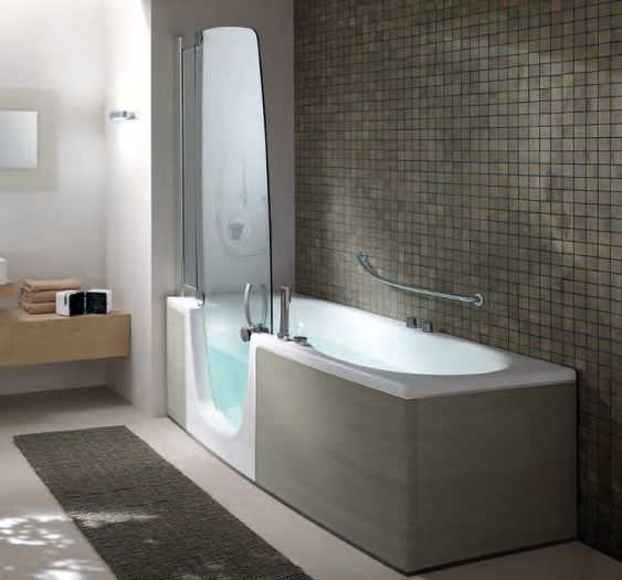 Vasca da bagno con doccia integrata preventivo installare - Bagno disabili con doccia ...