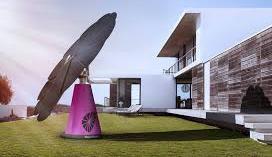 panel solar con forma de girasol